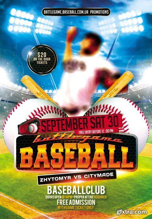 12 Baseball Flyer Template PSD Images - Baseball Flyer Template ...