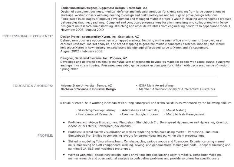 industrial design resume examples industrial designer resume