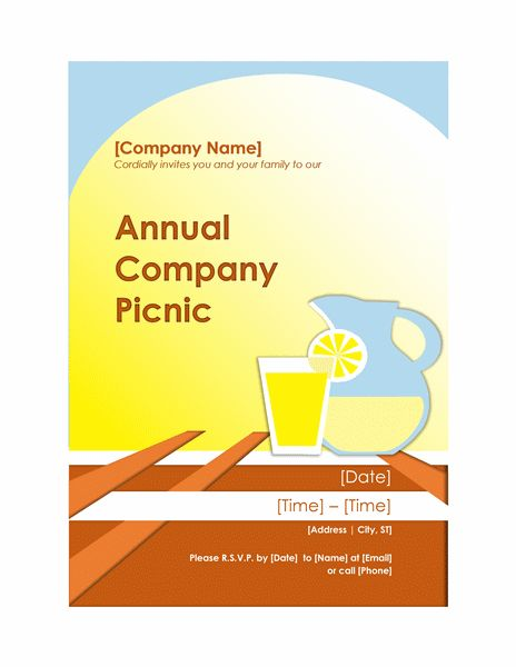 Company picnic invitation flyer - Office Templates