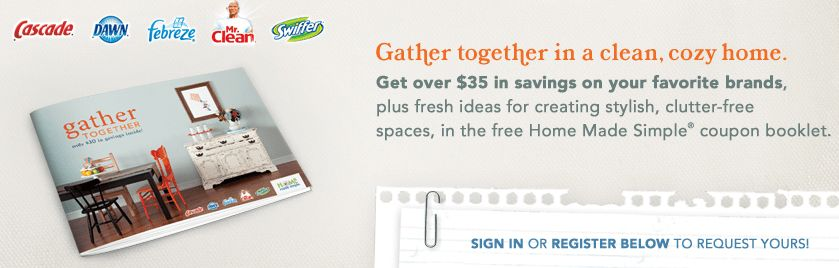 Gather Together Coupon Book: $35 in P&G Savings!