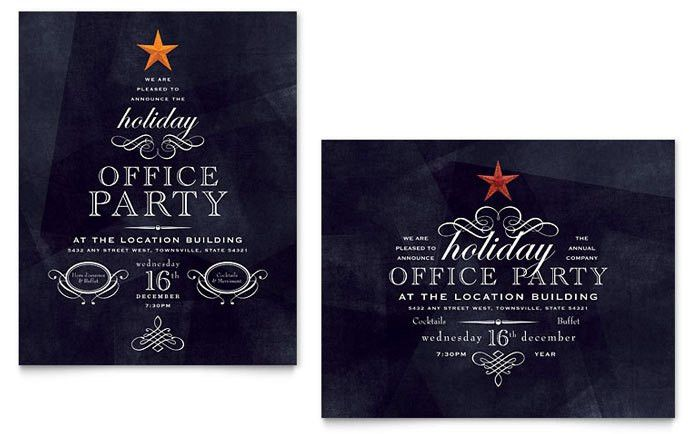 Christmas Party Invitation Template Free | cimvitation
