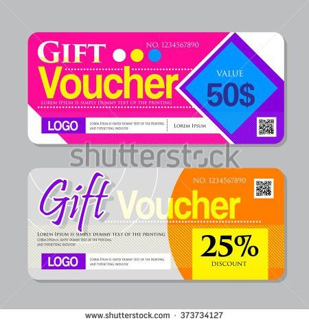 Vector Illustrationgift Voucher Template Colorful Pattern Stock ...