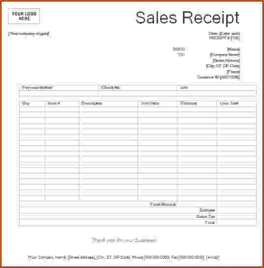 8+ printable receipts - bookletemplate.org