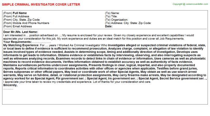 Criminal Investigator Job Title Docs