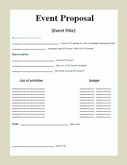 7+ Event Proposal Template | Timeline Template