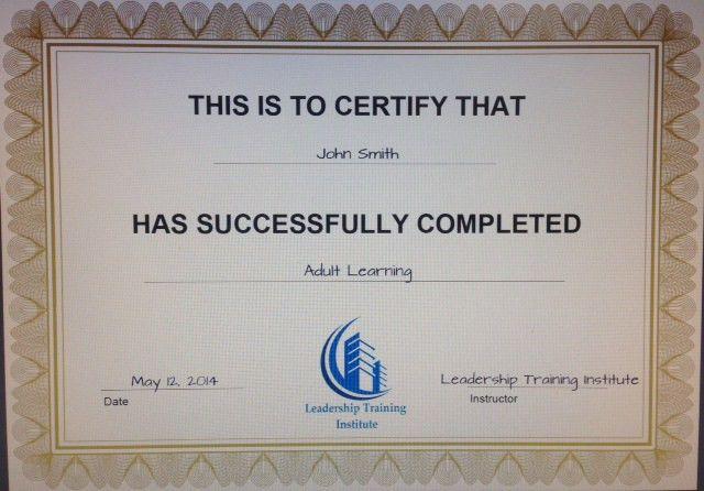 Leadership Training Institute – Mini Leadership Certificate Program