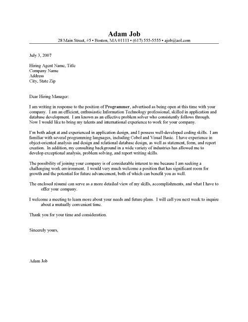 HR Manager Cover Letter Sample Resume Cover Letter in Resume With ...