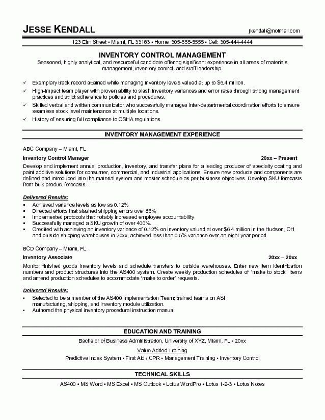 Warehouse Objective For Resume Examples   Template Design