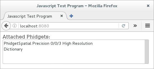 Language - JavaScript - Phidgets Support