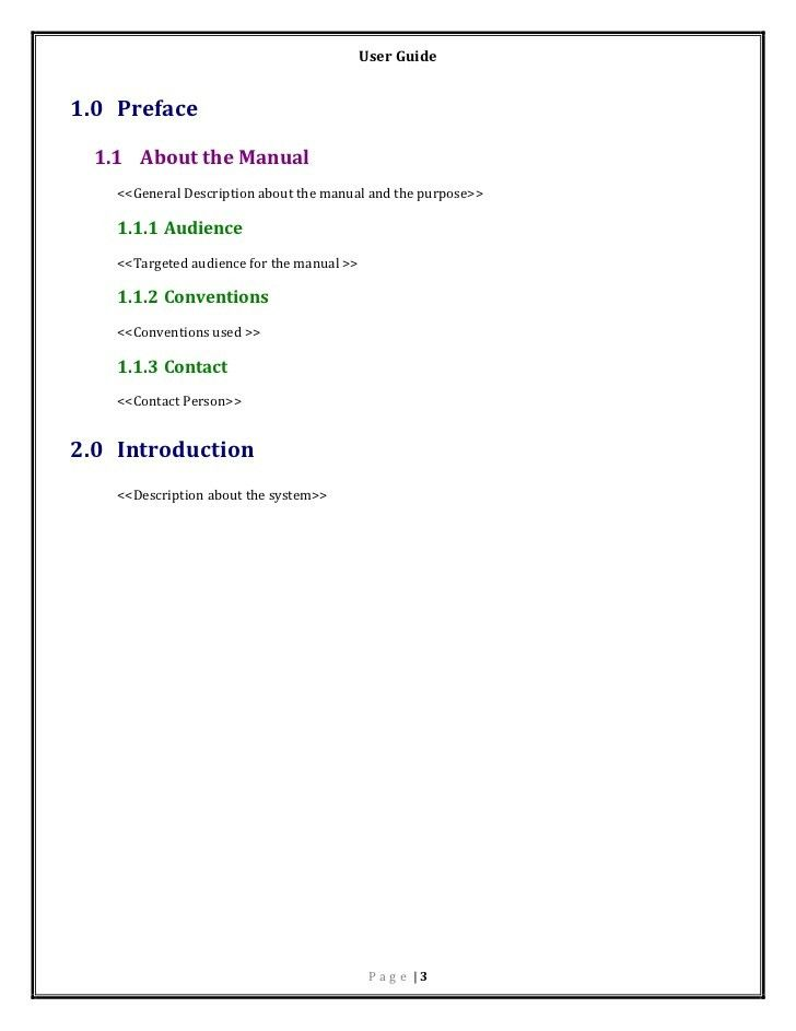 Instruction Manual Template. Instruction Manual Template 8 ...