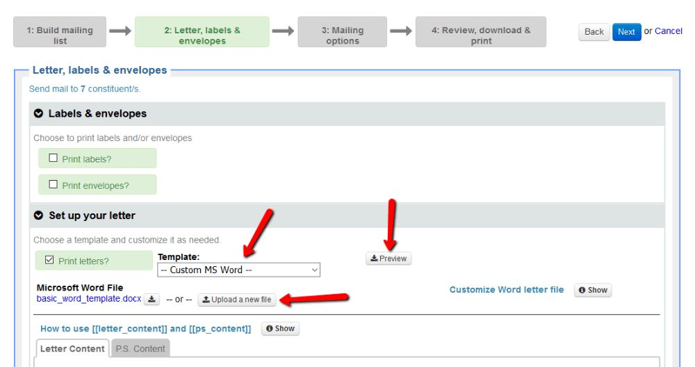 Create a mailing - Little Green Light Knowledge Base