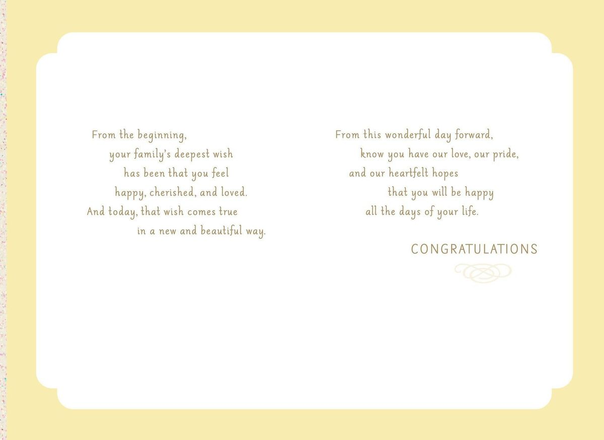 You're Our Pride, Granddaughter Wedding Card - Greeting Cards ...