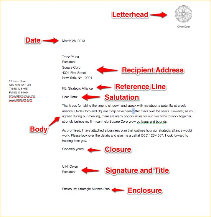 A business letter format example - Business Proposal Templated ...