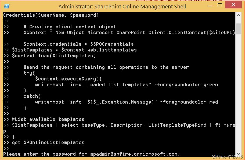 Get SharePoint Online list templates with PowerShell