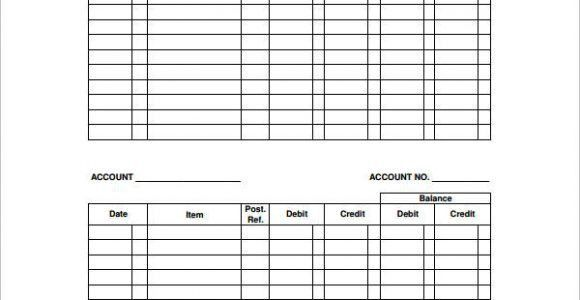Accounting Ledgers Templates. 8 accounting ledger template job ...
