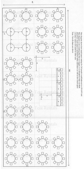 Print Wedding Seating Chart for 200 people | Seating Capacity ...