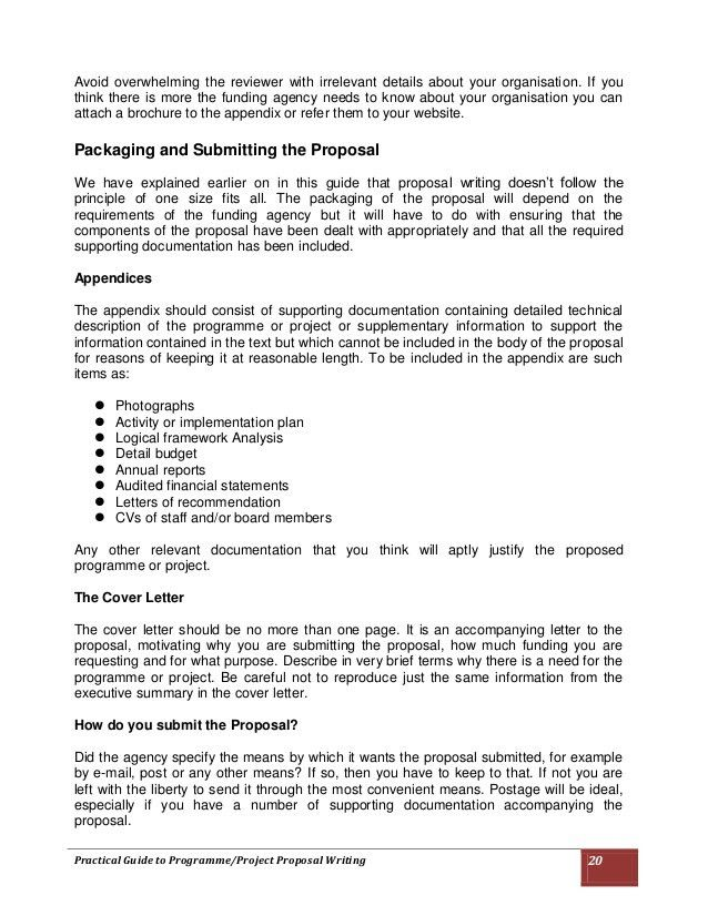 Practical Guide to Programme/Project Proposal Writing