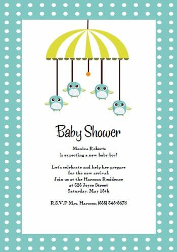 Top Collection of Baby Shower Invitations Template in USA #15854 ...