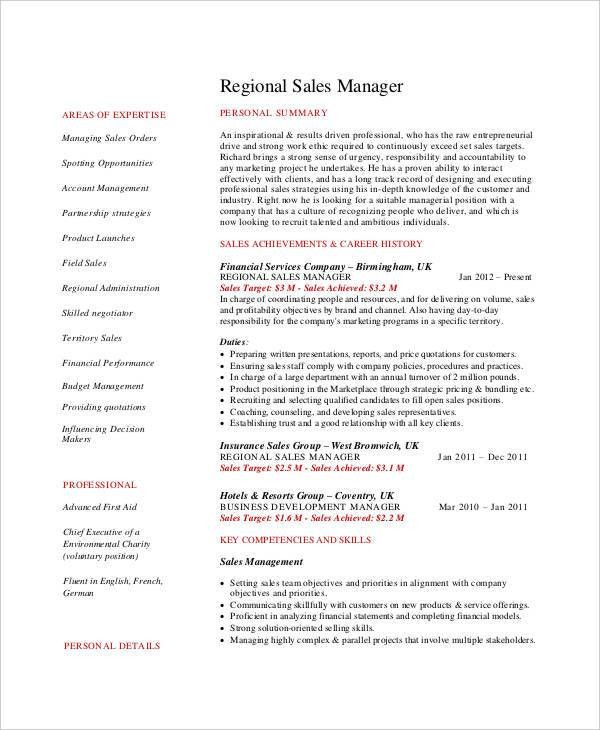 Sales Manager Resumes, sales resume examples - resume professional ...