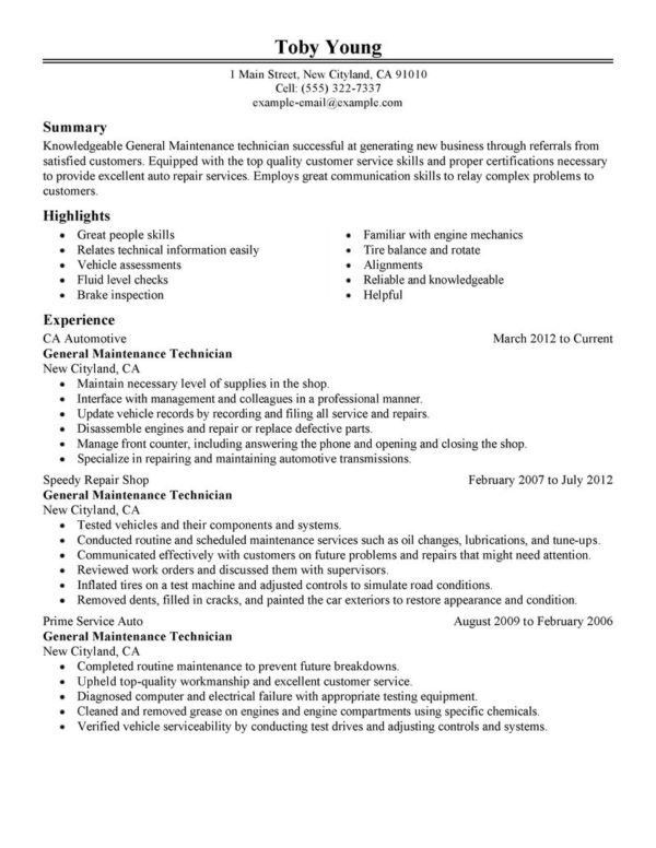 auto mechanic resume examples North Road Auto (845) 471-8255