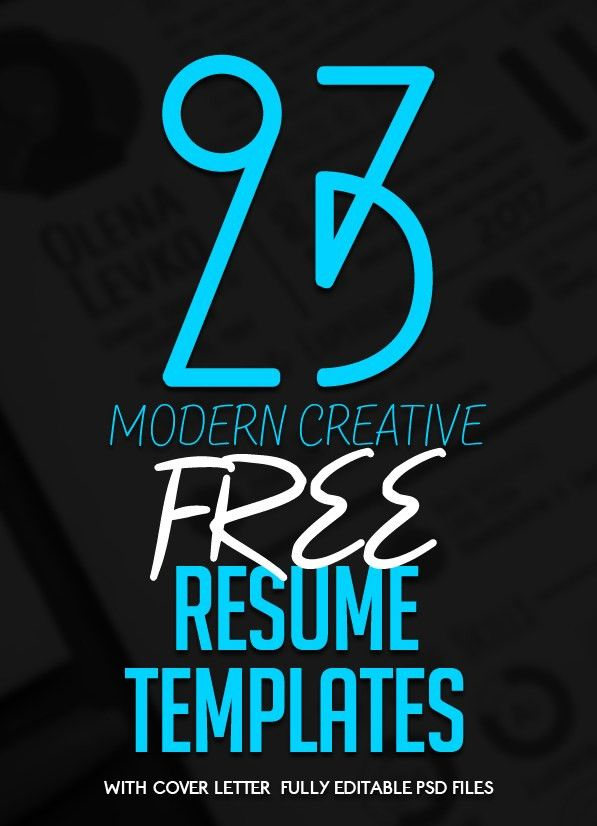 23 Free Creative Resume Templates with Cover Letter | Freebies ...