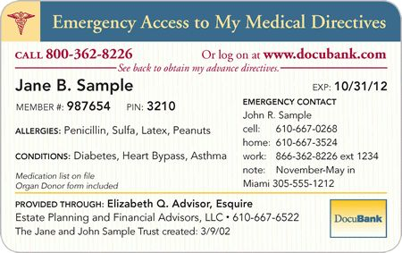 DocuBank - Immediate Access to Healthcare Directives & Emergency ...