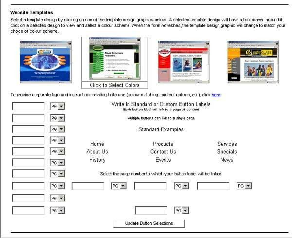 Aloak Product Order Form Help - Website Templates Section