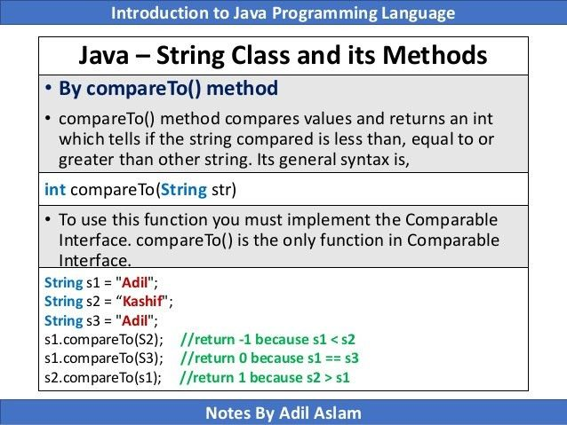 Introduction To Java Programming Lecture No. 7
