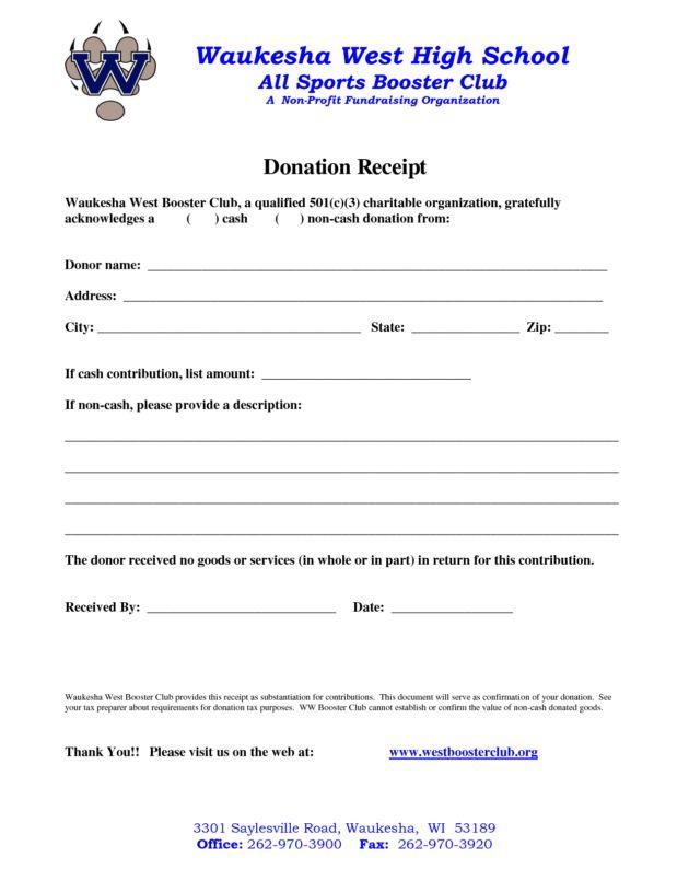 non profit donation receipt template : Helloalive