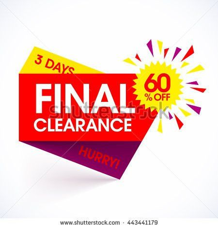 Final Clearance Sale Paper Banner Design Stock Vector 443441179 ...