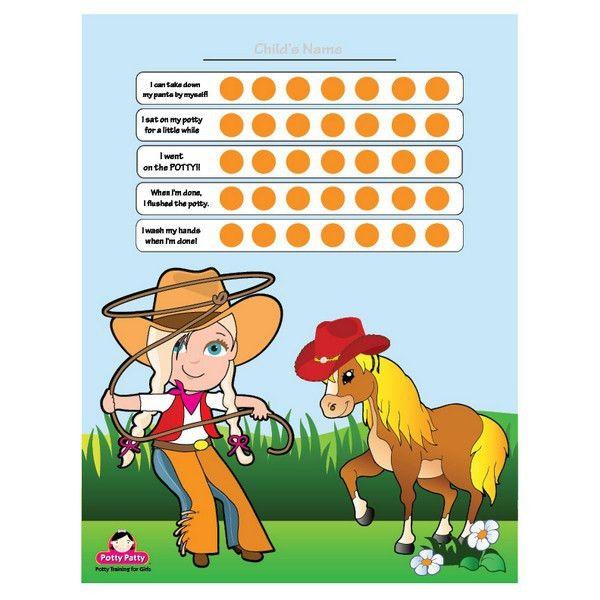 FREE Potty Training Charts for Girls | Potty Patty