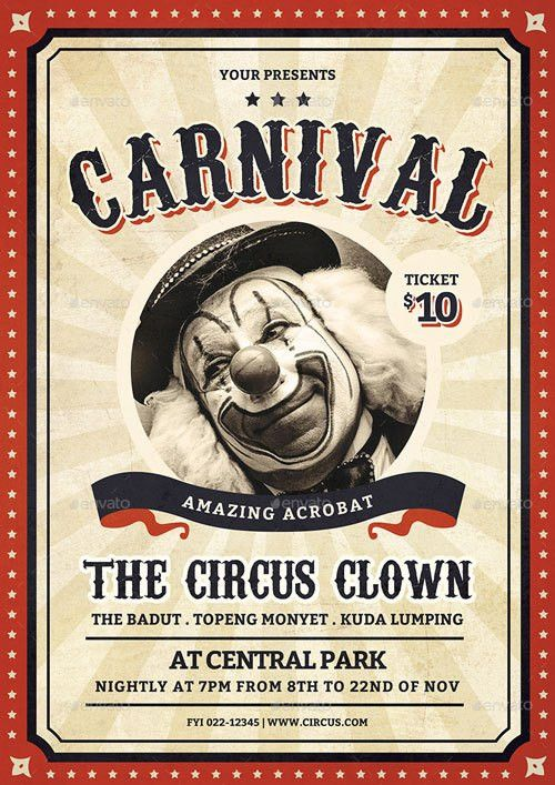Top 30 Best Carnival Flyer Templates 2017 - Download PSD Flyer for ...