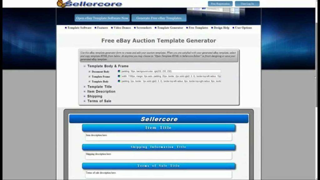 Ebay Html Template Free - Ecordura.com