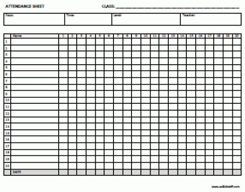 9+ Monthly Attendance Sheet Templates - Excel Templates