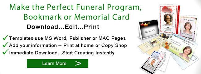 Make a Funeral Program | Create Funeral Programs