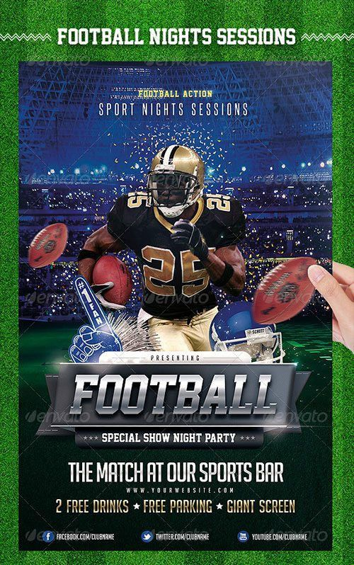 Top 10 American Football PSD Flyer Templates