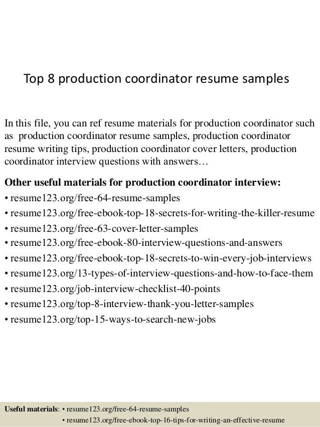 top-8-production-coordinator-resume-samples-1-638.jpg?cb=1430028063