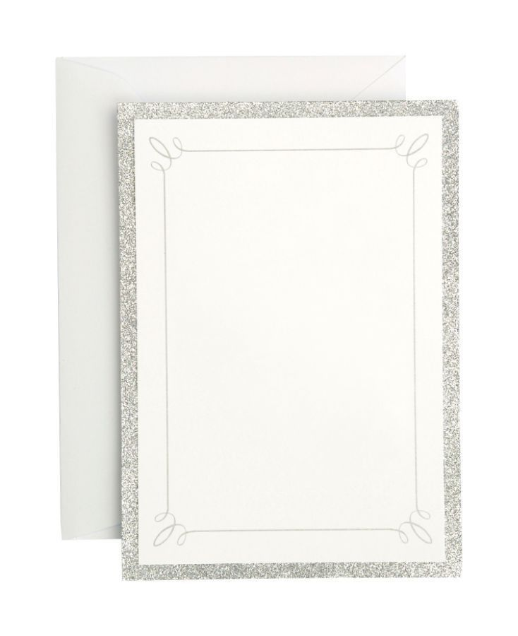 Gartner Studios Formal Invitations And Envelopes Silver Glitter ...