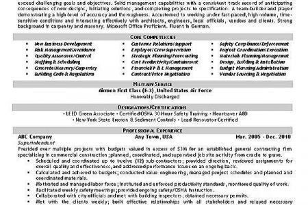 Health And Safety Resume Samples - Reentrycorps