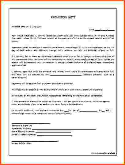 10+ promissory note template word | Survey Template Words