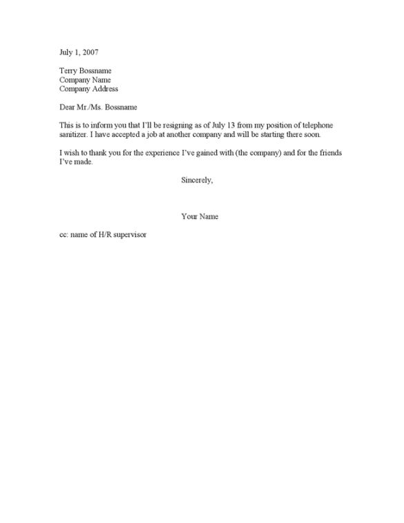 Teacher Resignation Letter Sample with Short Notice : Vntask.com