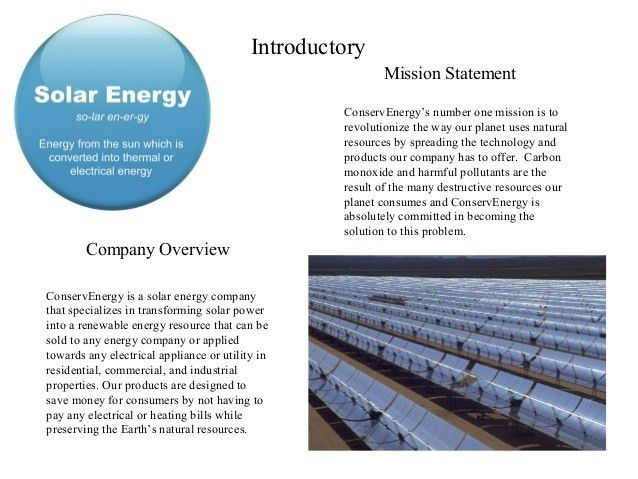 Sample Business Model # 1 - Basic Business Plan (ConservEnergy)