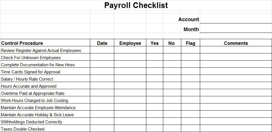 Payroll Controls and Procedures - Vitalics