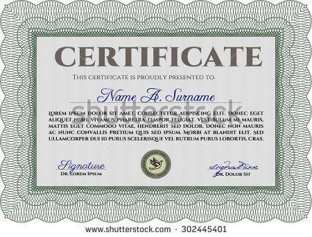 Diploma Template Certificate Template Border Framegood Stock ...