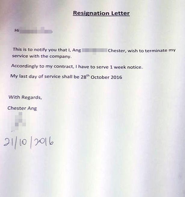 Line manager 'rewrites employee's resignation letter - praising ...