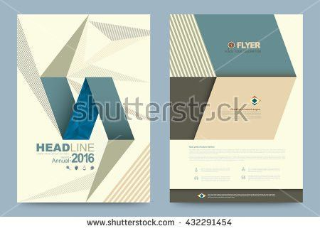 Cover Template Design Business Annual Report Stock Vector ...