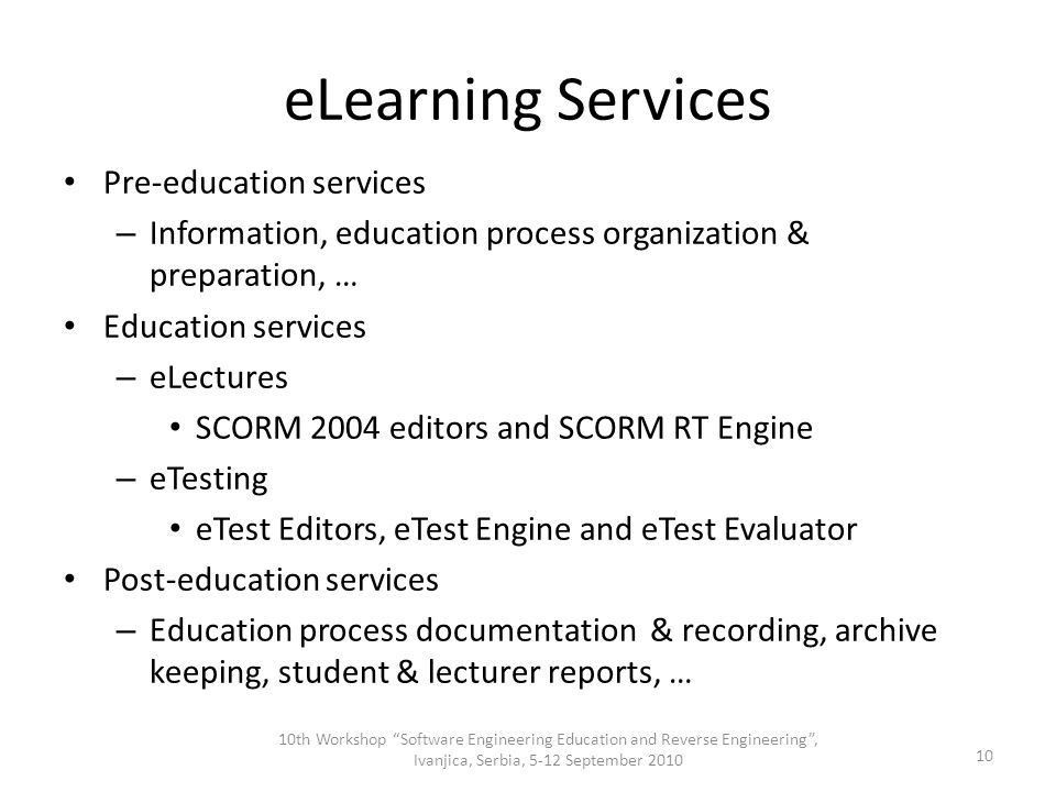 Distributed eLearning Center Stanimir Stoyanov, University of ...