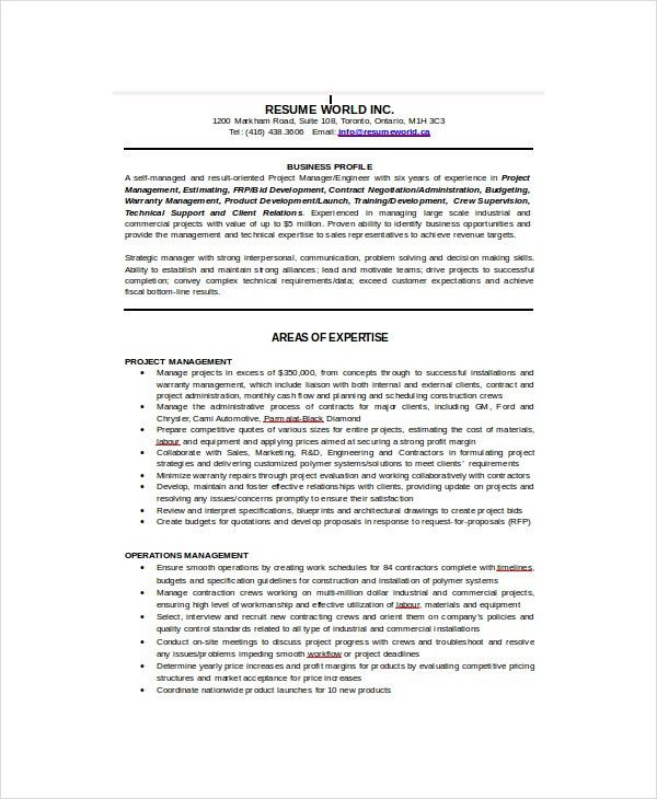 IT Resume Template - 6+ Free Word, Excel, PDF Documents Download ...