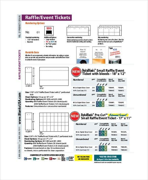 Sample Raffle Ticket - 8+ Documents in PDF, Word