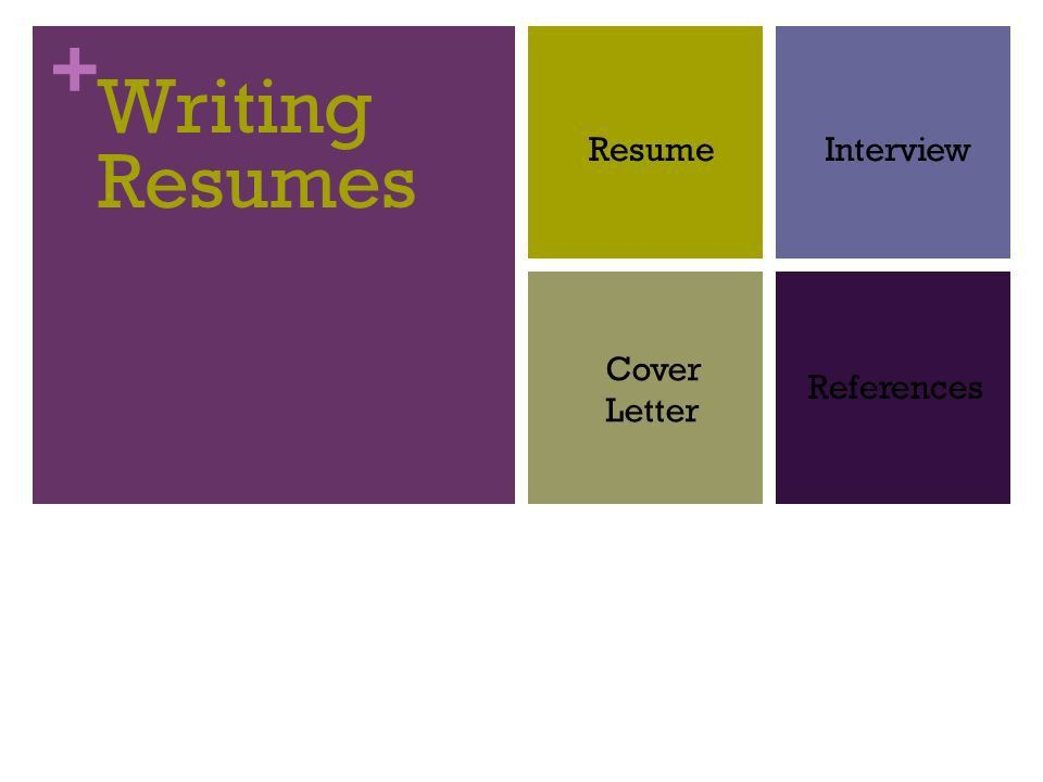 Writing Resumes Resume Interview Cover Letter References. - ppt ...